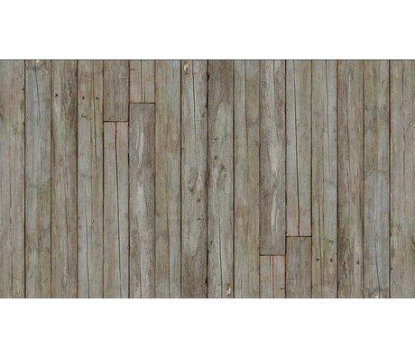 Piet Hein Eek La carta da parati 'Scrapwood 14 ", grigio / marrone, 900 x 48,7 centimetri