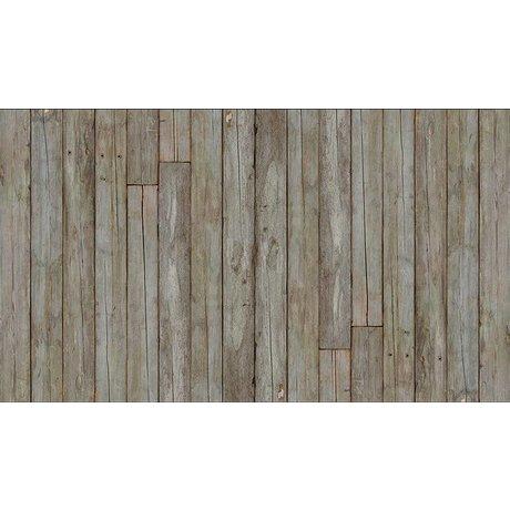 """Piet Hein Eek Scrapwood 14 papier Wallpaper """", gris / brun, 900 x 48,7 cm"""