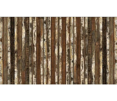"Piet Hein Eek La carta da parati 'Scrapwood 13 "", marrone / bianco, 900 x 48,7 centimetri"