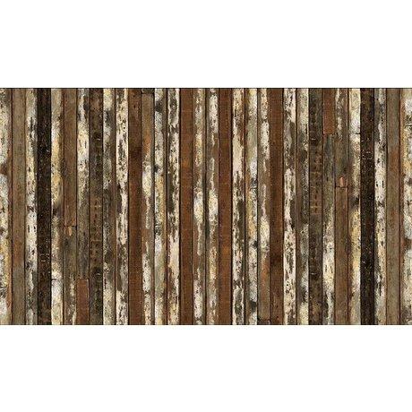 "Piet Hein Eek Wallpaper 'Scrapwood 13 ""kağıt, beyaz / kahverengi, 900 x 48.7 cm"
