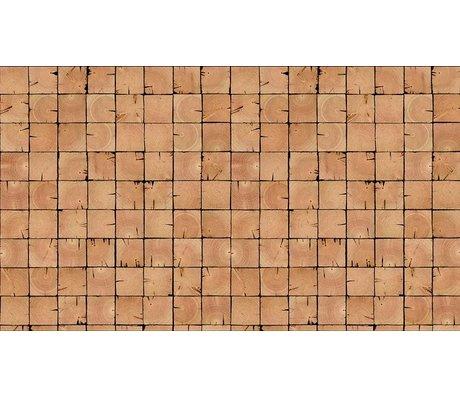 """Piet Hein Eek Tapete 'Scrapwood 9"""" aus Papier, braun, 900 x 48,7 cm"""