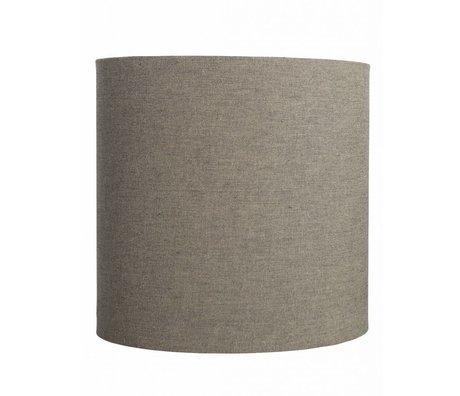 """Housedoctor Abat-jour """"Fine"""" de coton, gris / brun, Ø30x30cm"""