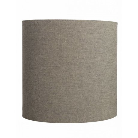 "Housedoctor Lampshade ""Fine"" of cotton, gray / brown, Ø30x30cm"