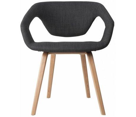 Zuiver Silla de comedor Flexback, / gris oscuro natural, 64x57x78cm