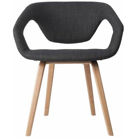 Zuiver Spisestuestol Flexback, natur / mørkegrå, 64x57x78cm