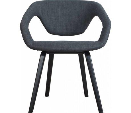 Zuiver Silla de comedor Flexback, negro / gris oscuro, 64x57x78cm