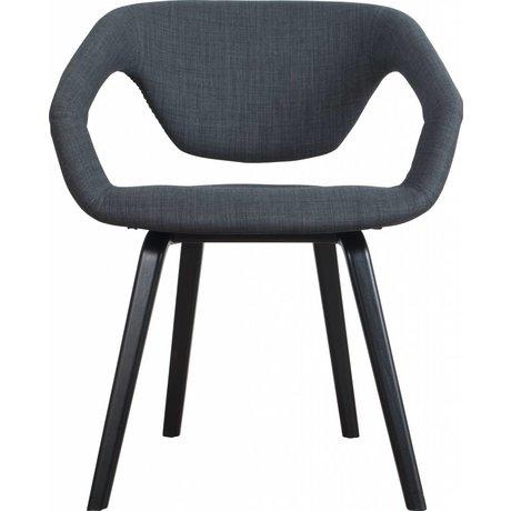 Zuiver Spisestuestol Flexback, sort / mørkegrå, 64x57x78cm