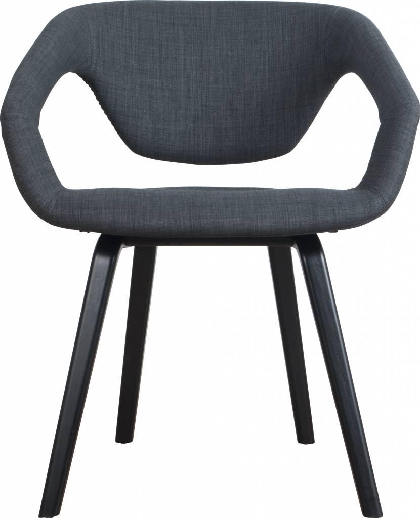 zuiver salle à manger chaise flexback, noir / gris foncé ... - Chaises Confortables Salle Manger