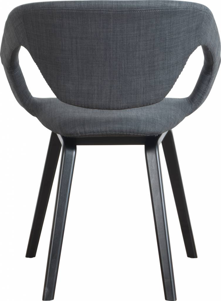 Zuiver Spisestuestol Flexback, sort / mørkegrå, 64x57x78cm ...