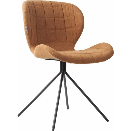 Zuiver Dining chair OMG, camel brown, 50x56x80cm