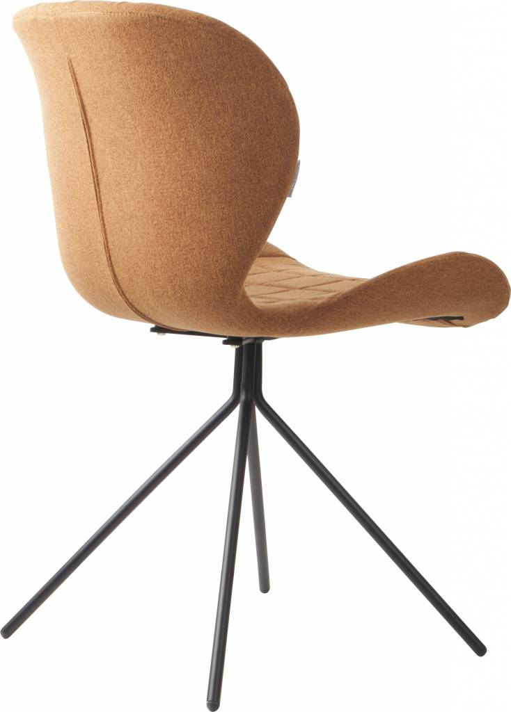 Zuiver dining chair omg camel brown 50x56x80cm for Chaise zuiver omg