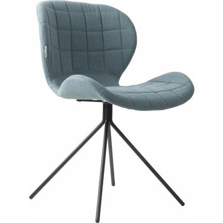 Zuiver Dining chair OMG, blue, 50x56x80cm