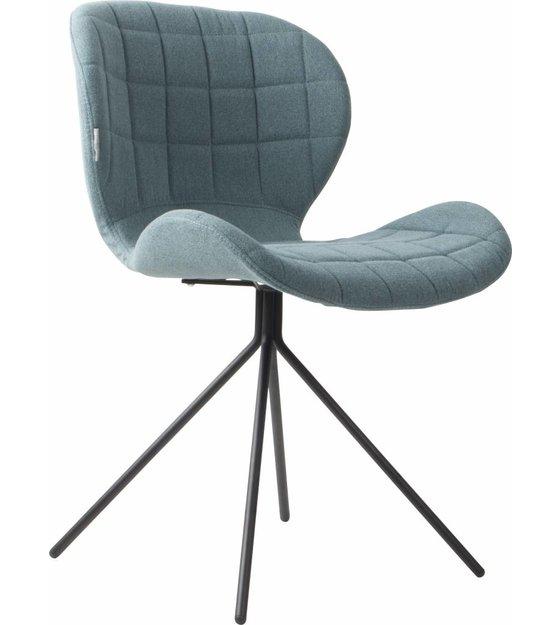 zuiver salle manger chaise omg bleu 50x56x80cm. Black Bedroom Furniture Sets. Home Design Ideas