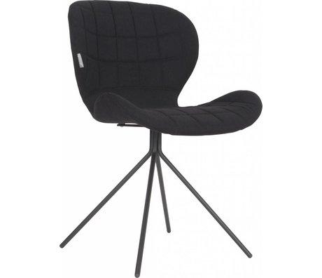 Zuiver Silla de comedor OMG, negro, 50x56x80cm