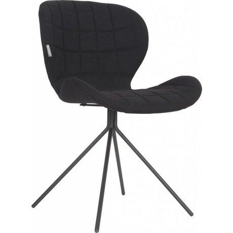 Zuiver Yemek sandalye OMG, siyah, 50x56x80cm