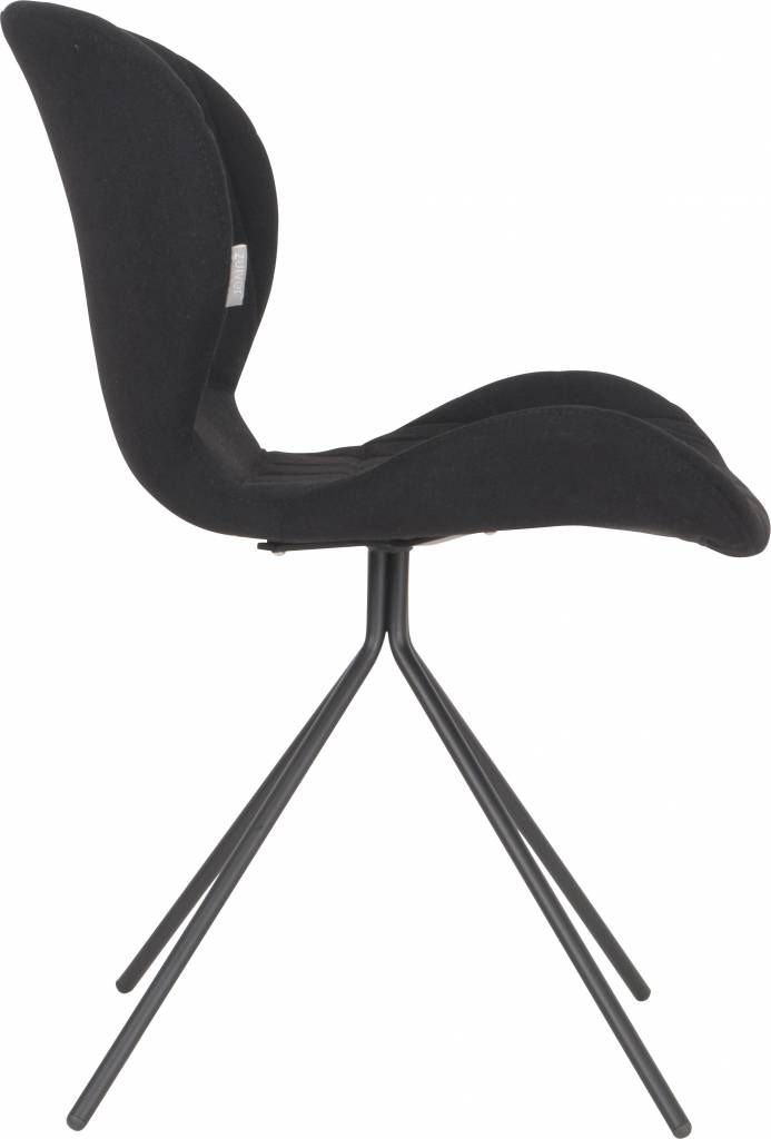 zuiver salle manger chaise omg noir 50x56x80cm. Black Bedroom Furniture Sets. Home Design Ideas