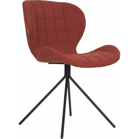 Zuiver Dining chair OMG, orange, 50x56x80cm