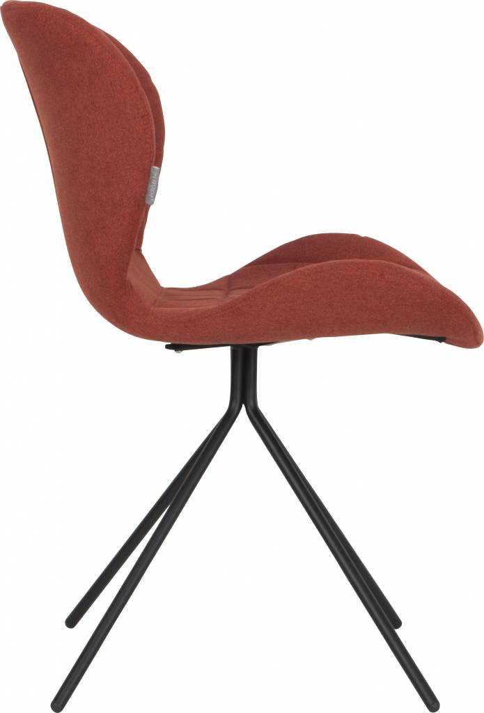 Zuiver dining chair omg orange 50x56x80cm for Chaise zuiver omg