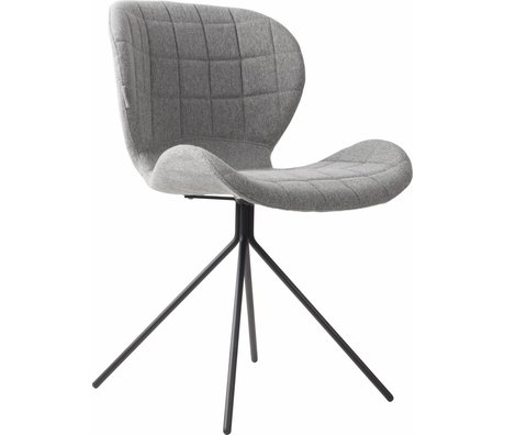 Zuiver Dining chair OMG, light gray, 50x56x80cm