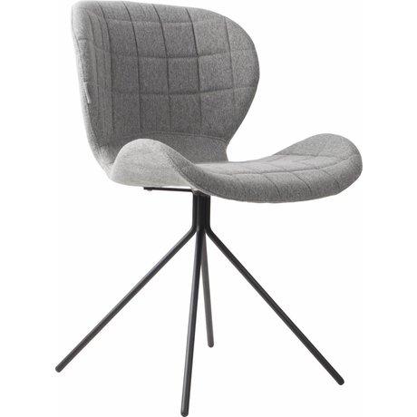 Zuiver Silla de comedor OMG, gris claro, 50x56x80cm