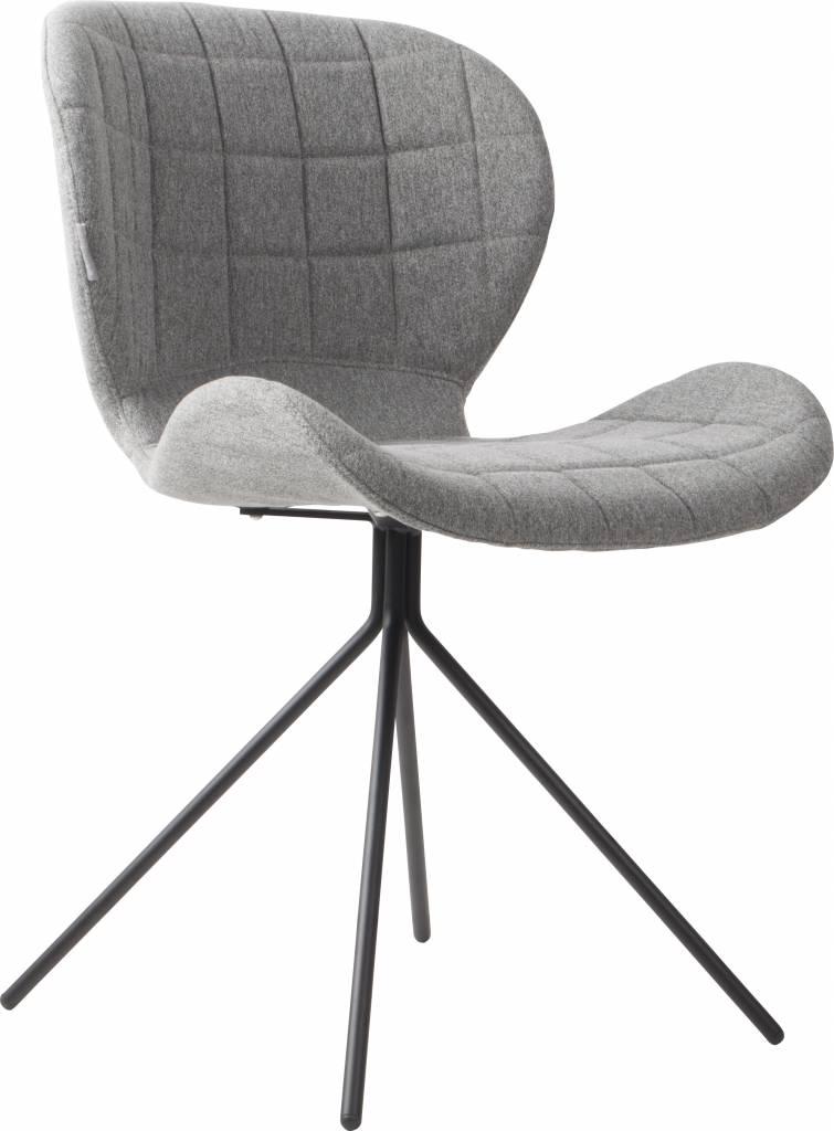 Zuiver salle manger chaise omg gris clair 50x56x80cm for Chaise salle a manger gris clair