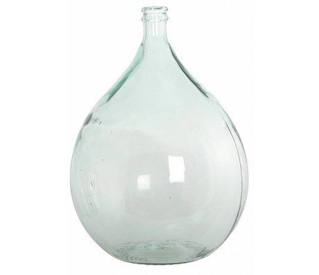 Housedoctor Bottiglia / vaso di vetro riciclato al 100%, Ø40cm h56cm 34 litri
