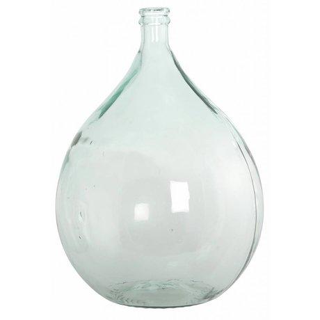 Housedoctor Botella / florero de vidrio 100% reciclado, Ø40cm h56cm 34 litros
