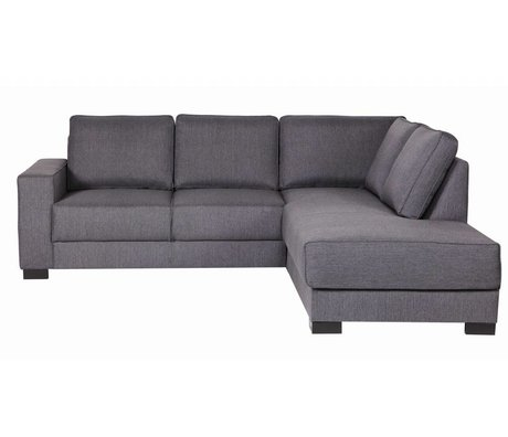 LEF collections Sofa `Tijmen` Lounge aus Stoff, helllgrau, rechtsarmig, 80X243X91/199cm