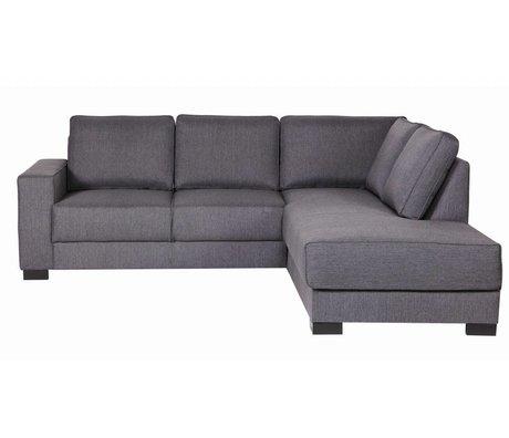 LEF collections Sofa `Tijmen` lounge stof, helllgrau, rechtsarmig, 80X243X91/199cm