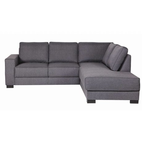 LEF collections Sofa `Tijmen` lounge fabric, helllgrau, rechtsarmig, 80X243X91/199cm