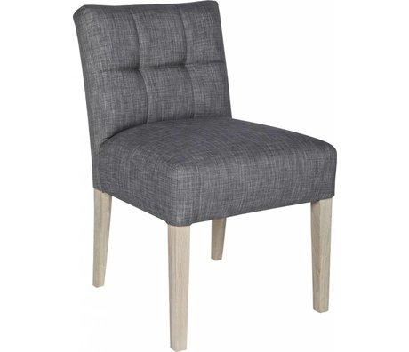 LEF collections Chaise de salle à manger 'Mare', gris taupe, 83X63X52cm