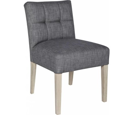 LEF collections Dining room chair 'Mare', taupe gray, 83X63X52cm