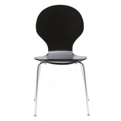 """LEF collections Sala da pranzo sedia """"Atlanta"""" nel set di 4, argento / nero, 87x44x47cm"""