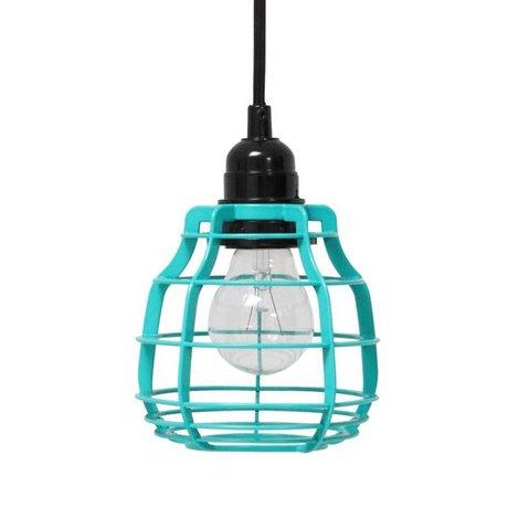 HK-living Colgando LAB lámpara con tapones de metal, verde, Ø13x17cm