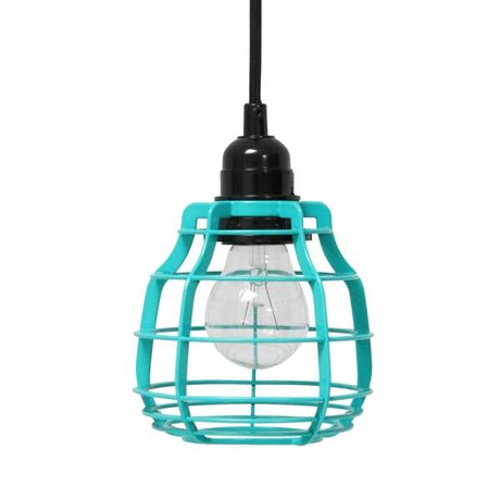 HK-living Hanging lamp LAB with plugs of metal, green, Ø13x17cm