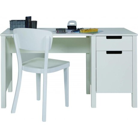 LEF collections Bureau 'Jade' de pin, blanc, 75x140x60cm