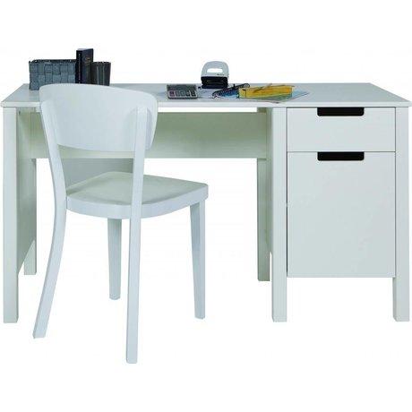 LEF collections Skrivebordet 'Jade' fra fyrretræ, hvid, 75x140x60cm