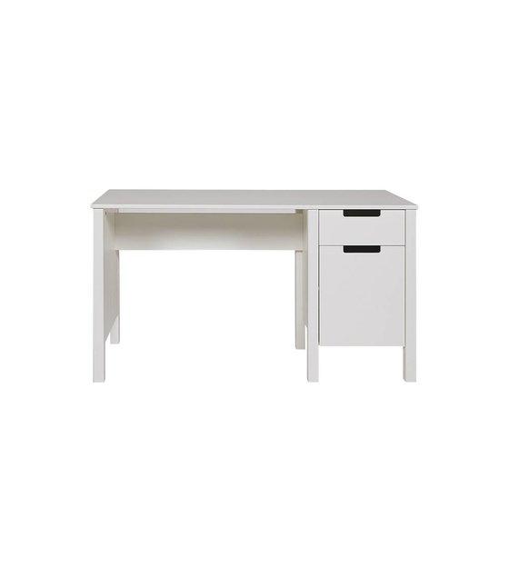 LEF collections Escritorio \'Jade\' de pino, blanco, 75x140x60cm ...