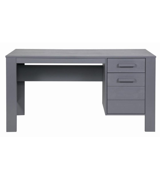 schreibtisch dennis aus kiefer stahlgrau 140x59x74cm. Black Bedroom Furniture Sets. Home Design Ideas