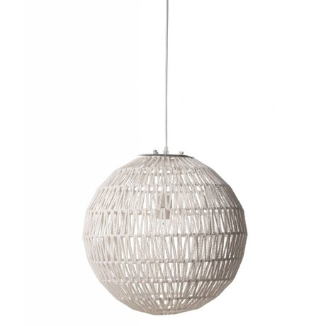Zuiver Hængende lampe Cable40, hvide, Ø40cm