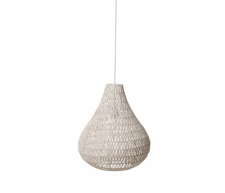 Zuiver Hanging lamp CableDrop, white, Ø45cm