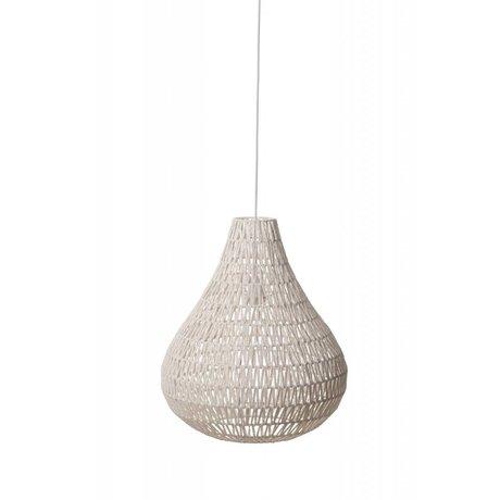 Zuiver Asılı lamba CableDrop, beyaz, Ø45cm