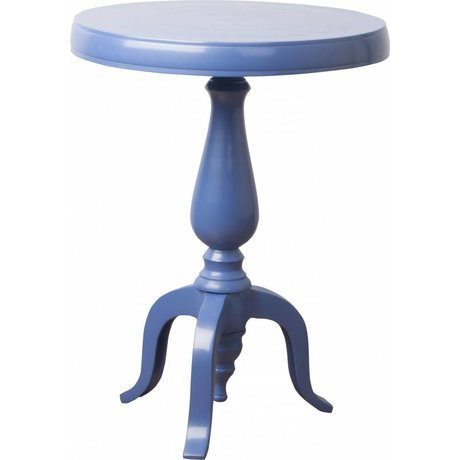 Zuiver Mesa auxiliar clásica fresca, azul, Ø31cm