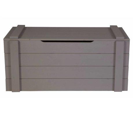 LEF collections Stockage 'Dennis' de pin, gris acier, 42x90x42cm