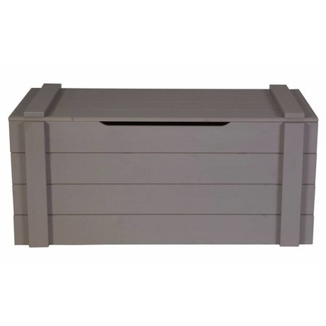 LEF collections Storage 'Dennis' from pine, steel gray, 42x90x42cm