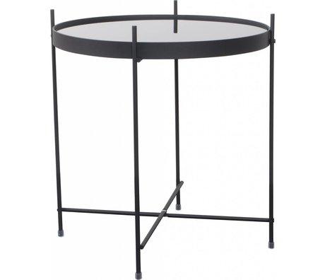 """Zuiver Table """"Amor"""" af metal, sort, Ø43x45cm"""