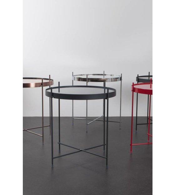 zuiver beistelltisch cupid aus metall schwarz 43x45cm. Black Bedroom Furniture Sets. Home Design Ideas