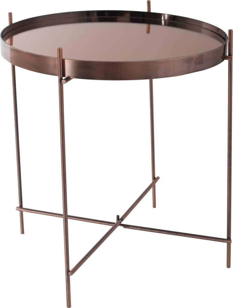 zuiver beistelltisch cupid aus metall kupfer 43x45cm. Black Bedroom Furniture Sets. Home Design Ideas