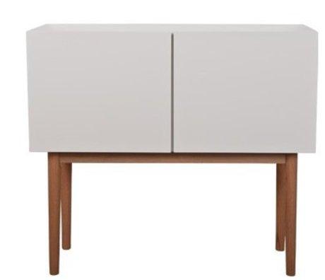 Zuiver Credenza ALTA SU LEGNO 2DO MDF / Oak, bianco / marrone naturale, 90x40x80cm