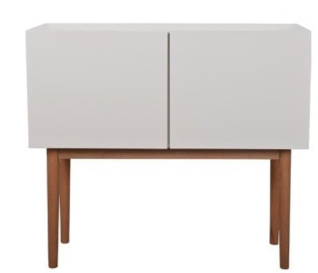 Zuiver Sideboard HIGH ON WOOD 2DO MDF / Oak, white / natural brown, 90x40x80cm